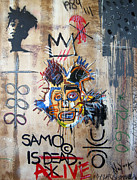 Neo Expressionism Paintings - In memory Basquiat by Bela Manson