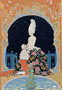 Pleading Framed Prints - In the Grotto Framed Print by Georges Barbier