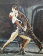 Ballroom Painting Originals - In the Heat of the Night by Judy Kay