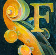 Music Posters Posters - In The Key of F Poster by Susanne Clark