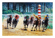 Horserace Paintings - In the Winners Circle by John Lautermilch