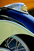 Fender Art - Indian Motorcycle Fender Emblem by Jill Reger