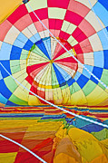 Hot Air Balloon Race Framed Prints - Inside a Rainbow Framed Print by Jim Chamberlain