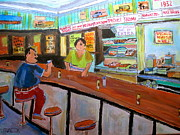 Snack Bar Art - Inside Wilenskys by Michael Litvack