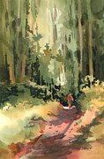 Woods Painting Originals - Into the Wild by Kris Parins