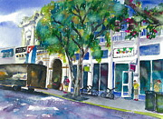 Watercolor Society Prints - Island Style Key West Print by Brenda Dolhanczyk