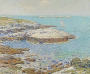 New England Lighthouse Painting Prints - Isles of Shoals Print by Childe Hassam