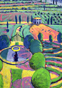 Composition Painting Prints - Italian Garden  Print by Sara Hayward
