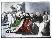 Italian Landscape Mixed Media Prints - Italian Nuns Print by Tony Rubino
