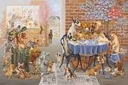 Beagle Puppies Paintings - Its a Dogs World by Victor Powell