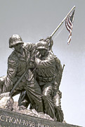 U S Flag Digital Art Posters - Iwo Jima Memorial Poster by Daniel Hagerman