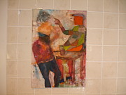 Figures Painting Originals - Jack and Gill by Edward Burbidge