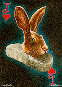 Playing Cards Painting Framed Prints - Jack of Hearts... Framed Print by Will Bullas