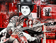 Celebrities Painting Metal Prints - Jack White Metal Print by Joshua Morton