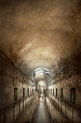 Hallway Prints - Jail - Eastern State Penitentiary - End of a jouney Print by Mike Savad
