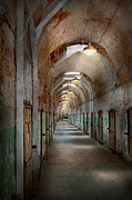 Hallway Framed Prints - Jail - Eastern State Penitentiary - Endless torment Framed Print by Mike Savad
