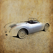 James Dean Mixed Media Posters - James Dean Porsche 550 Spyder Poster by Pablo Franchi