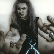 Metallica Painting Posters - James Hetfield Poster by Christian Chapman Art