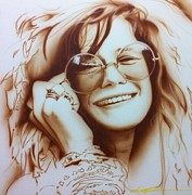 Musicians Framed Prints Paintings - Janis by Christian Chapman Art