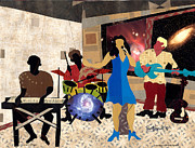 Florida Flowers Mixed Media Prints - Jazz at City View 2012 Print by Everett Spruill