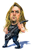 Art  Prints - Jeff Hanneman Print by Art