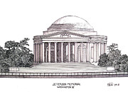 Washington Dc Drawings - Jefferson Memorial by Frederic Kohli