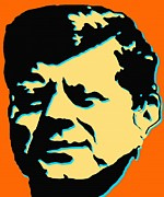 Politics Prints Digital Art Prints - JFK 3 - Kennedy Pop Art Print by Peter Art Print Gallery  - Paintings Photos Posters