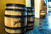 Rain Barrel Posters - Jim Beam Poster by Jeff Tureaud