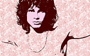 Jim Morrison Prints - Jim Morrison Pop Art Print by Andrea Kollo