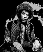 Contemplative Posters - Jimi Pop Art Poster by Daniel Hagerman