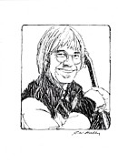 John Denver Art - John Denver by J W Kelly