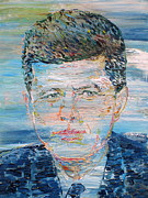 Jfk Paintings - JOHN F. KENNEDY - oil portrait by Fabrizio Cassetta