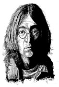 John Lennon  Drawings - John Lennon by Kenneth Stock