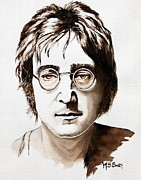 Fab Four  Art - John Lennon by Maria Barry