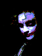 Celebrities Metal Prints - Joker 4 Metal Print by Alys Caviness-Gober