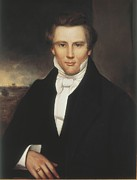 Religious Pictures Prints - Joseph Smith. Copy After Adrian Lamb Print by Everett