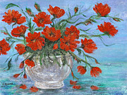 Catherine White Prints - Jubilee Poppies Print by Catherine Howard