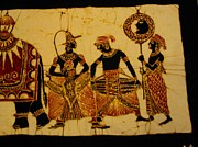 Musicians Tapestries - Textiles Originals - Kandy Esala Perahera Part Three by Sri Lankan Artist