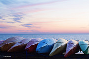 Barbara McMahon - Kayaks at Sunset