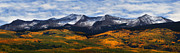 Mountain Scenes Posters - Kebler Pass Fall Colors Poster by Darren  White