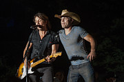 Rock Star Art Art - Keith Urban and Dustin Lynch by Mike Burgquist