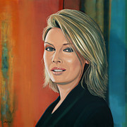 Pop Singer Painting Prints - Kim Wilde Print by Paul  Meijering