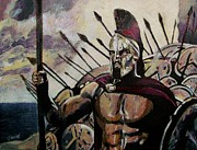 Graphic Novel Paintings - King Leonidas by Jeremy Moore