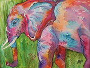 Elephant Wall Art Framed Prints - King of the Elephants Framed Print by Ellen Levinson