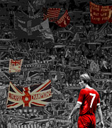 Liverpool Football Prints - King of the Kop Print by Scouse  Arthouse