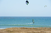 Para Surfing Prints - Kite Surfing and Wind Surfing Central Coast San Simeon California Print by Author and Photographer Laura Wrede