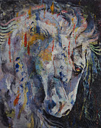 Collectible Art Paintings - Knight of Chess by Michael Creese