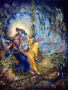 Nature Divine Posters - Krishna leela Poster by Harsh Malik