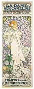 Jugendstil Prints - La Dame Aux Camelias Print by Nomad Art And  Design