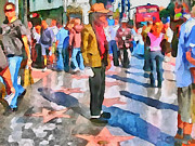 Live Art Framed Prints - LA Hollywood Alley Artists Framed Print by Yury Malkov